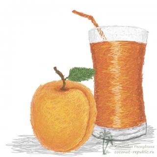Свежевыжатый сок из абрикосов