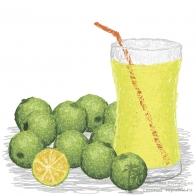Свежевыжатый сок из лайма
