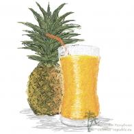 Свежевыжатый сок из ананаса